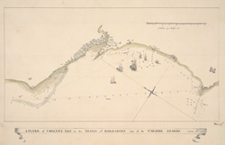 Journals of the master/ Plan of Carlisle Bay f.5